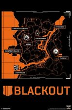 CALL OF DUTY - BLACK OPS 4 - BLACKOUT MAP POSTER - 22x34 - VIDEO GAME 17630