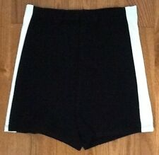 HIGH WAISTED BLACK WITH WHITE STRIPE ON SIDE SHORTS NEW WITHOUT TAGS SIZE MEDIUM