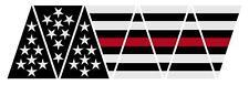Firefighter Red Line Black American Flag 1010 Helmet Reflective Decal Sticker