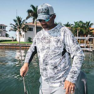50% Off Gillz Long Sleeve Tournament Series Fishing Shirt- Black Camo-Free Ship