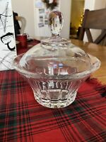 RCR 24% Lead Crystal Candy Dish w/Lid Royal Crystal Rock Made in Italy