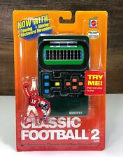 2002 Mattel Classic Football 2 electronic game..New, rarer in original packaging
