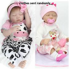 22'' Reborn Baby Doll Lifelike Newborn Babies Toddler Vinyl Silicone Xmas Gifts
