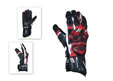 Moto GP Leather Motorbike/Motocross Gloves Carbon Fiber Knuckle All Weather TMS
