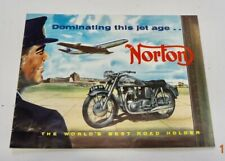 ✇ NORTON Manx 30/40 Model 99 88 5019S E.S.2. US Prospekt von 1957