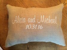 Kneeling Pillows in Burlap for Wedding - Personalized - Set of 2