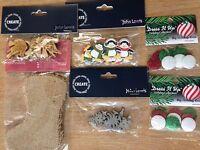 Xmas craft embellishments topper wreath wood dove trees John Lewis jute stocking