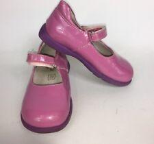 Primigi PINK Mary Jane Girls Shoes SPARKLE GLITTER RUBBER SOLE US 7.5 - 8 EU 24