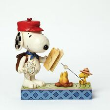 Jim Shore Campfire Friends Peanuts Figurine - Snoopy and Woodstock 4049414