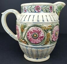 Antique Weller Pottery Floral Zona Water Pitcher Excellent Condition Great Color