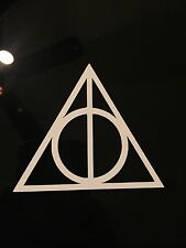 Deathly Hallows Triangle Decal Harry Potter Bumper Window Wall MacBook Sticker