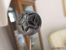 5149 – Unique Green Twinkle Background Under Pierced Star Antique Convex Button
