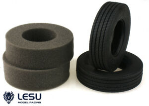 LESU one Pair Rubber C Tires A for 1/14 TAMIYA RC Tractor Truck DIY Model Car