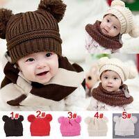 New Cute Baby Toddler Kids Boys Girls Knitted Crochet Beanie Winter Warm Hat Cap
