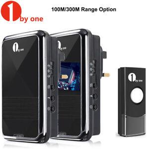 1byone Wireless UK Plug-in Doorbell 2 Receiver & 1x Button Door Bell Waterproof