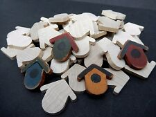 """Wood Unfinished Flat  Bird House  1 1/8""""  24 Pieces"""