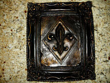 Fleur de Lis Wall Plaque, Old World, Tuscan, Medieval, French Country, Handmade