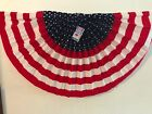American Patriotic Stars & Stripes Bunting (Qty 2)- 24in x 48in