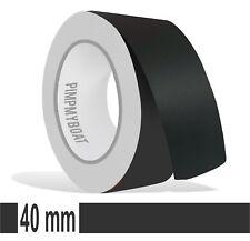 ZIERSTREIFEN - 40mm MATT SCHWARZ matte 10m Auto black 40 Stripe Boot 4cm Dekor