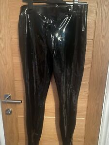 Men's Latex Police Outfit Trousers and Top Size M To L Chlorinated