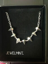 Jewelmint Silver Swan Spike Necklace New with box