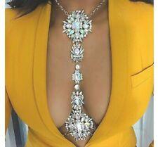 Bikini Necklace Waist Chain Jewelry. Zoestar Gorgeous Crystal Body Chains Sexy