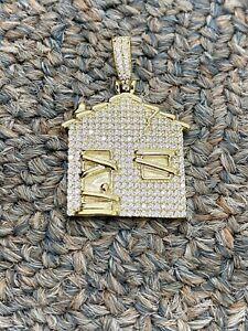 10KT Yellow Gold Men's Trap House, Trap Pendant Men's Gold Pendant, Brand New