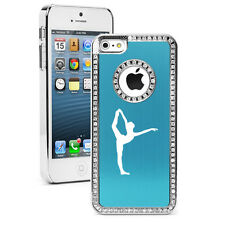 For iPhone 4s 5 5s 5c 6 6s Plus Rhinestone Crystal Bling Case Dancer Gymnastics
