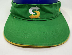 Subway Visor Cap Hat Adult Adjustable Green Cotton