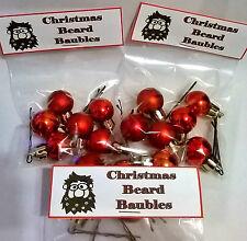 Novelty BEARD BAUBLES Stocking Filler Secret Santa Christmas Party Decorations