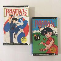 Ranma 1/2 English Manga Book Vol 1-2 Rumiko Takahashi Graphic Novel