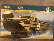 Two 1/72 Italeri WWII Allied amphibious truck DUKW kits