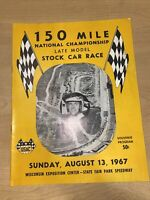 1967 150 Mile Stock Car Racing Program Milwaukee Wis Don White