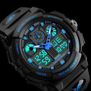 Fashion Men's Waterproof Army Sports Analog Digital LED Date Quartz Wrist Watch