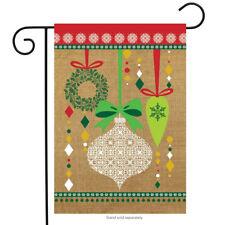 "Christmas Ornaments Burlap Garden Flag Holiday 12.5"" x 18"" Briarwood Lane"