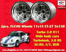 2 Cerchi Porsche 911 11x15R ET-27 Turbo 3.0/3.3 polished Felge Wheels TUV jantes