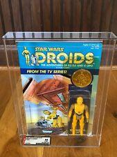 Vintage Kenner Star Wars MOC AFA85Y Droids C-3PO [Protocol Droid coin]