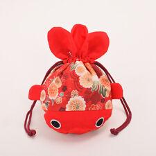 Women's Sakura Handmade Purse Red Money Coin Wallet Key Money Holder Pouch