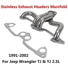 91-02 For Jeep Wrangler Tj & Yj 2.5L Stainless Exhaust Headers Manifold System