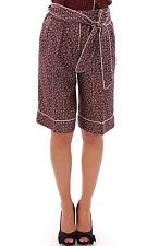 NEW $1480 DOLCE & GABBANA Shorts Red Bordeaux Pajama Silk Pants IT36 / US2 / XXS