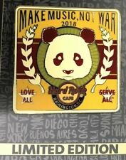 2018 HARD ROCK CAFE WASHINGTON DC  PANDA/MAKE MUSIC NOT WAR LE PIN