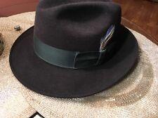 VINTAGE YOUNGS  NEW YORK  BOWLER  Hat SIZE 7  1/9 RARE !!!!!!!!!