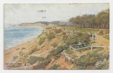 Old J Salmon Postcard, West Cliff Walk, Bournemouth