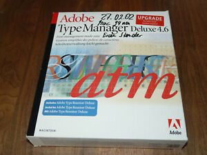 Adobe TypeManager Deluxe 4.6.1 Vollversion inkl. Type Reunion für Mac