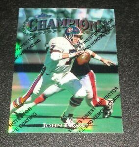 1997 Topps Finest John Elway Champions Refractor W/Peel #300 Broncos HOF