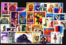 India Year Unit 1973, Complete Set of 34 Used Thematic Stamps-Commemorative Only
