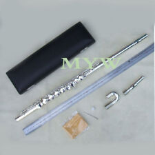 advanced alto flute outfit G key 2 mouthpieces silver plated