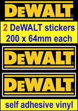 2 DeWALT tools motorsport sponsor stickers car van truck toolbox workshop decals