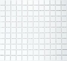 Keramikmosaik weiß matt 2 5x2 5x0 4 Cm Mosaik Fliesen
