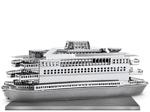 Metal Earth Ferry Boat 3D metal Model + Tweezer 010688